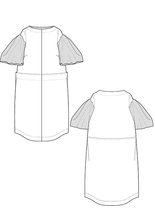 Material switching dress