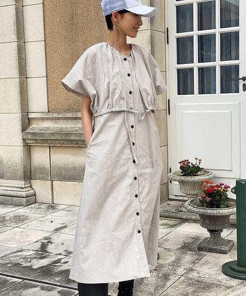 Organic dobby layered dress
