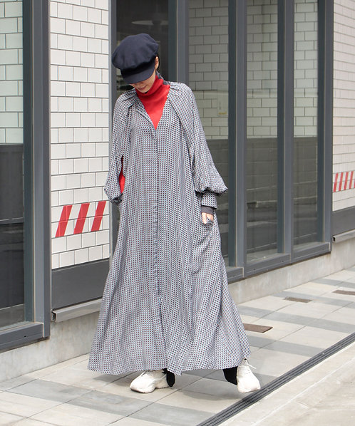 Import optical print dress