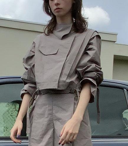 Nep slab linen mix jacket