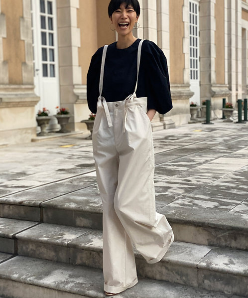 High count washer wide pants