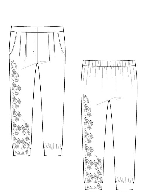 Exclusive Import printed  pants