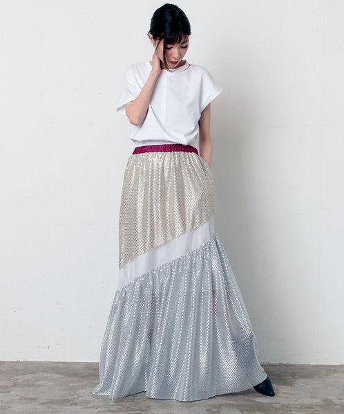 Import shiny dot ×Organdy skirt