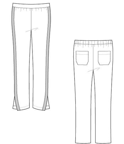 Cardboard line pants