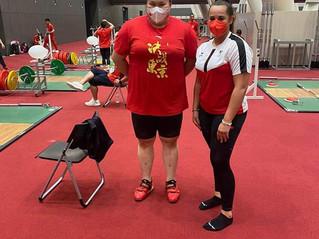 Olympiastarter Kat +87kg Li Wenwen CHN und Sarah AUT