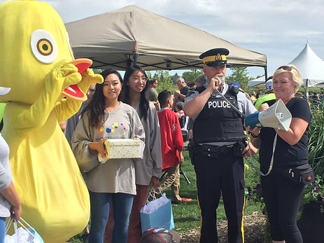 Chestermere resident being issued a Positive Ticket