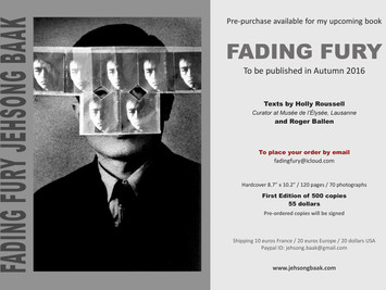 """Fading Fury"": The upcoming Photo Book by Jehsong Baak"