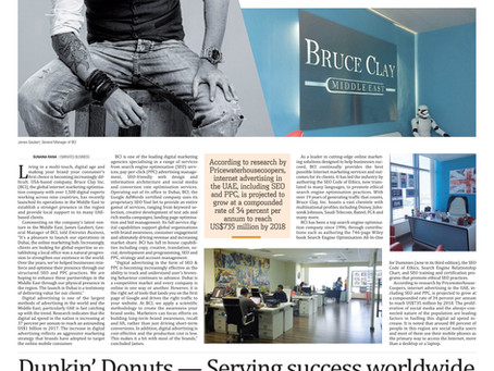 Here I am - making headlines in 'Emirates Business'