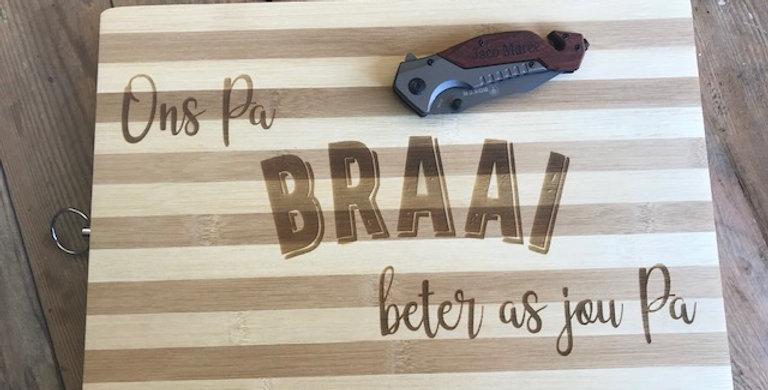 Biltong Board & Knife