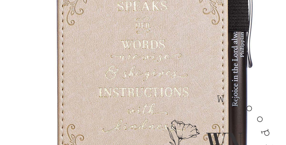 WHEN SHE SPEAKS-NOTEBOOK AND PEN