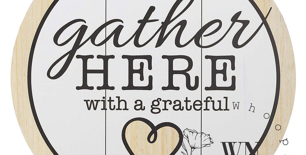 GATHER HERE- WALL ART