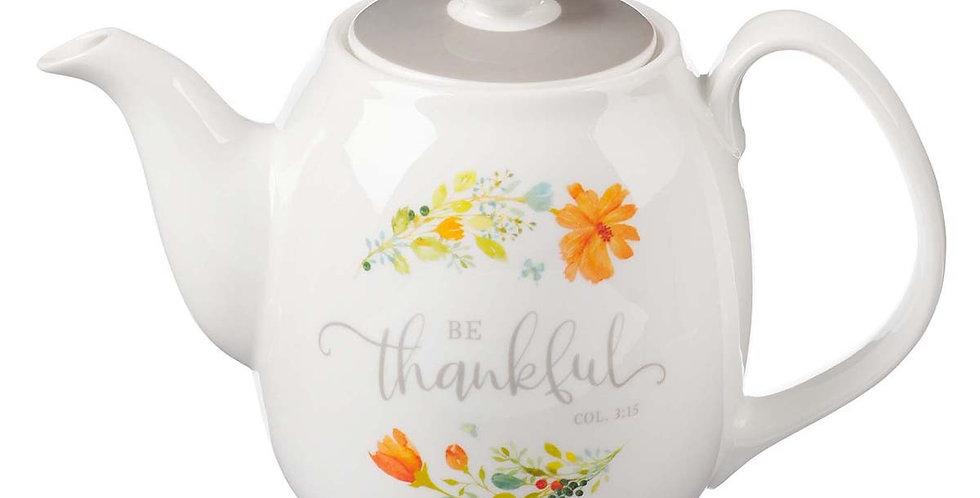 Be Thankful Cermic Teapot