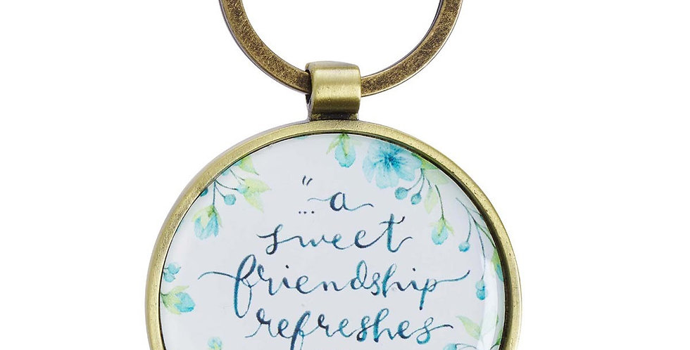 Sweet Friendship Metal Keyring