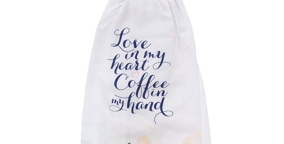 Love in my heart Tea towel