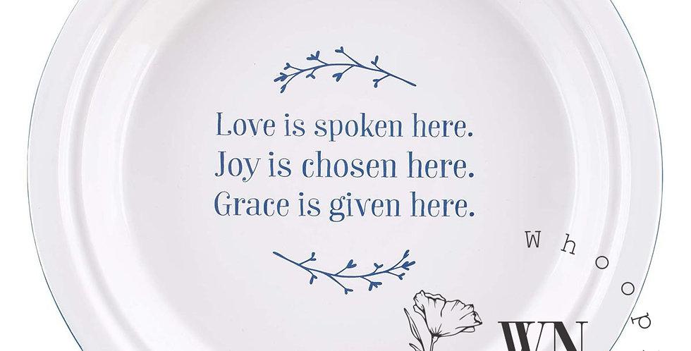 LOVE JOY GRACE-PIE PLATE