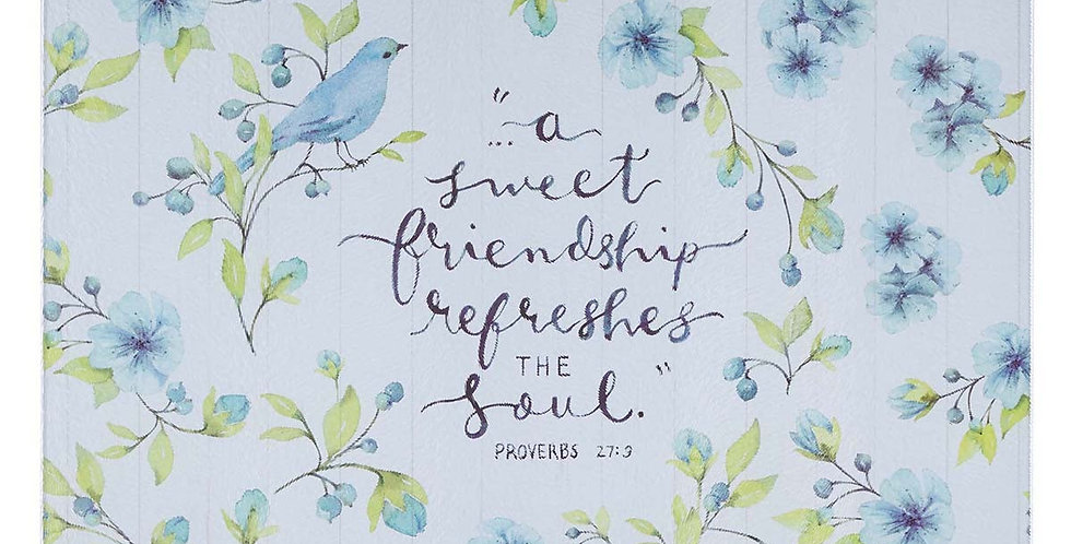 Sweet Friendship Refreshing the soul (Large cutting board)