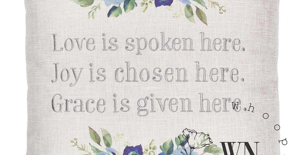 LOVE JOY GRACE-PILLOW