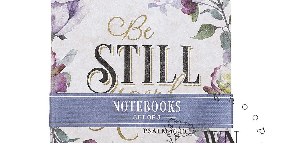 BE STILL- FLORAL NOTEBOOK SET