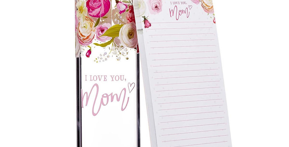I love you Mom- Notepad and waterbottle