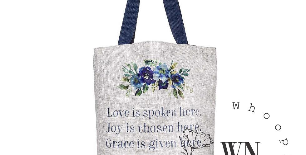 LOVE JOY GRACE- TOTE BAG