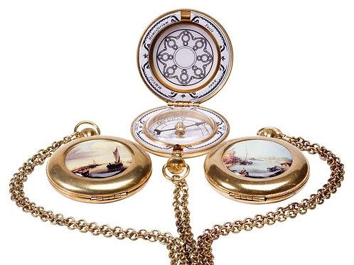 Enamel Pocket Compass
