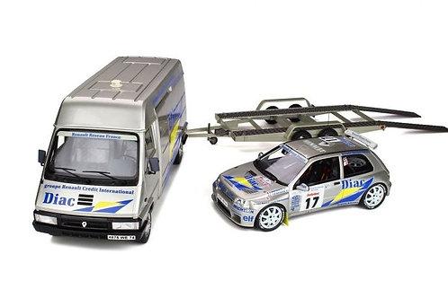 Renault Master, trailer and Clio Maxi