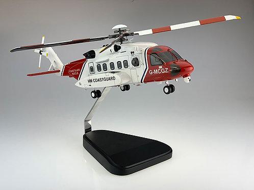 Sikorsky S92 UK Coastguard Helicopter