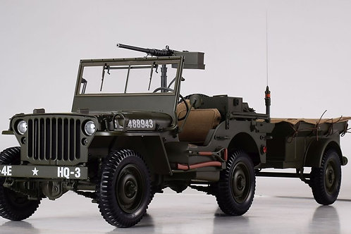 Willys Jeep 1943 with Trailer