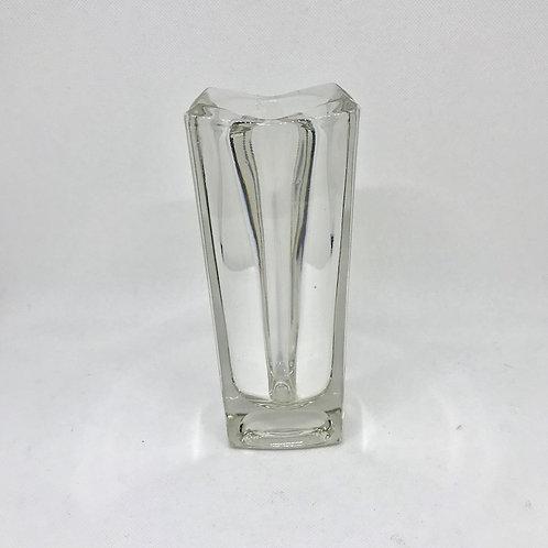 Vase vintage verrerie Rosice transparant