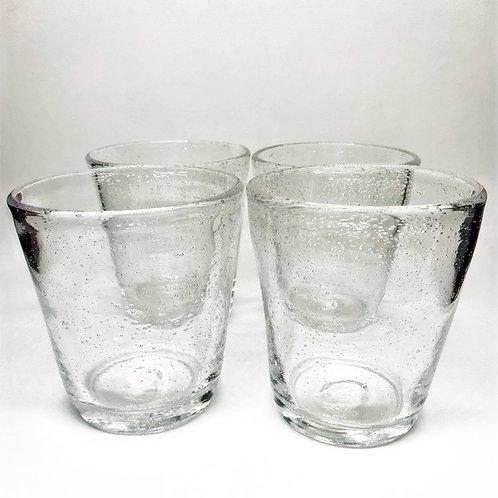 Verres à eau en verre soufflé bullé
