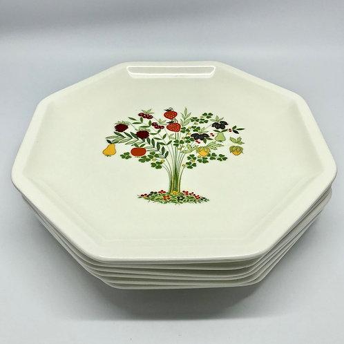 Assiettes vintage Ceramica Olympia