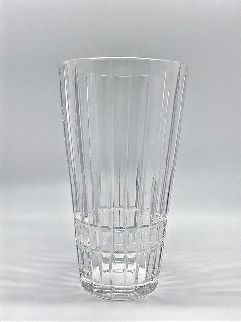 Vase conique vintage en cristal
