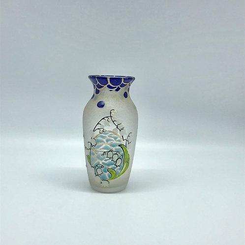 Vase Legras au muguet