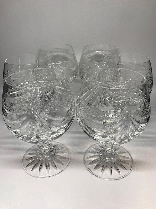 Verres à cognac vintage estampillé « cristal de Paris »
