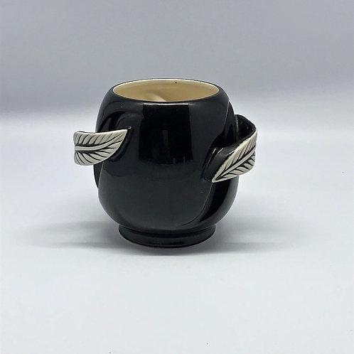Céramique noire à feuilles blanches Verceram