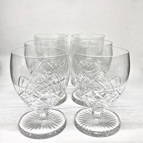 Verres à vin ou cognac vintage en cristal taillé
