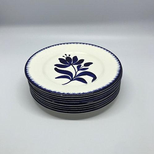 Assiette vintage bleu et blanc