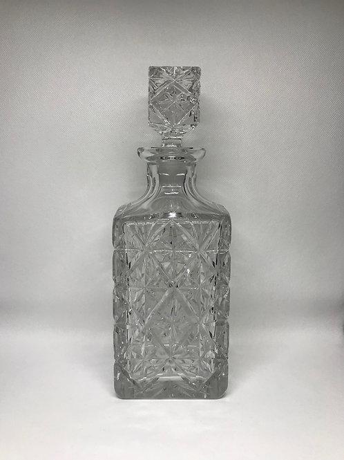 Carafe à whisky en cristal taillé