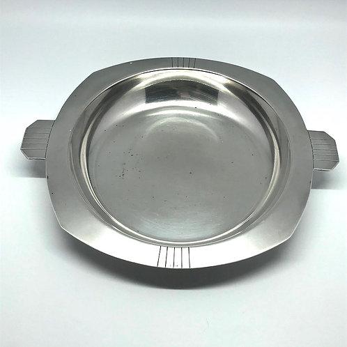 Plat art déco en métal argenté