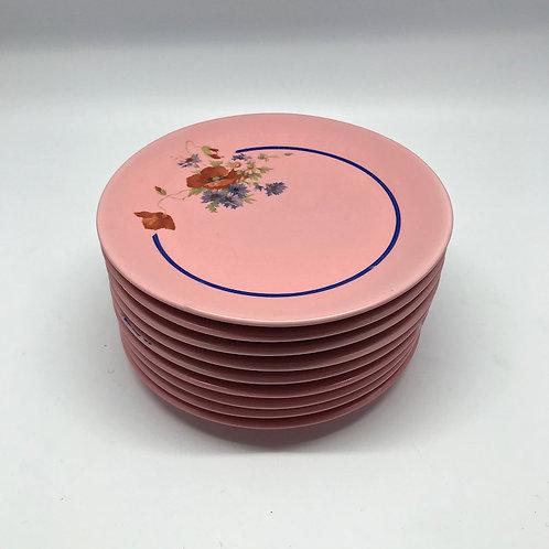 Service à gâteau vintage rose