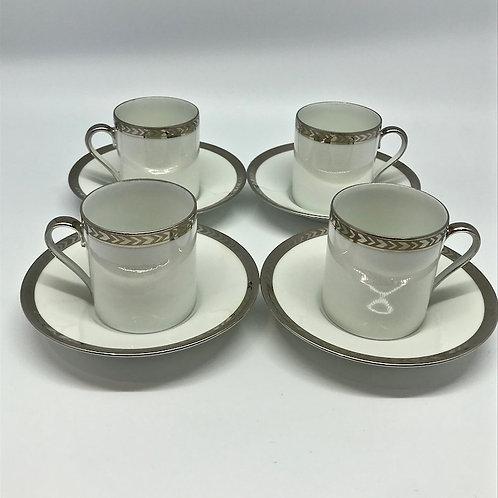 Tasses à expresso vintage en porcelaine de Limoges