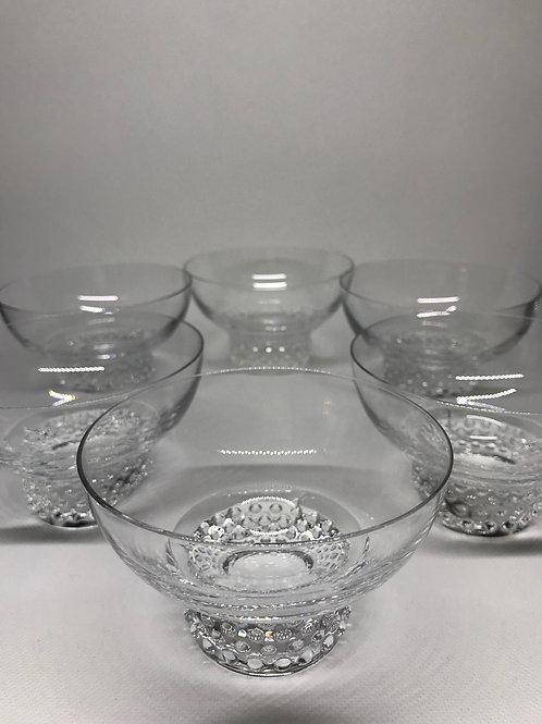 Coupes à dessert vintage en verre