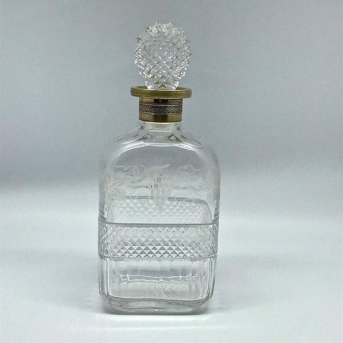 Carafe à whisky motif pointe diamant