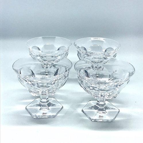 Coupes à champagne en cristal Moser