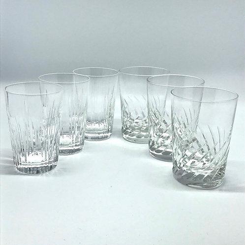Verres à whisky vintage en cristal taillé