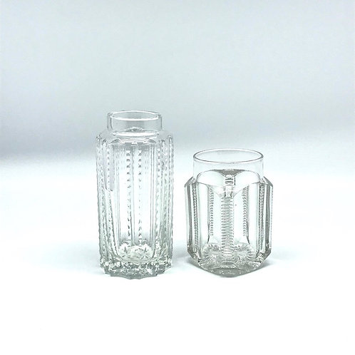 Vase en cristal ancien