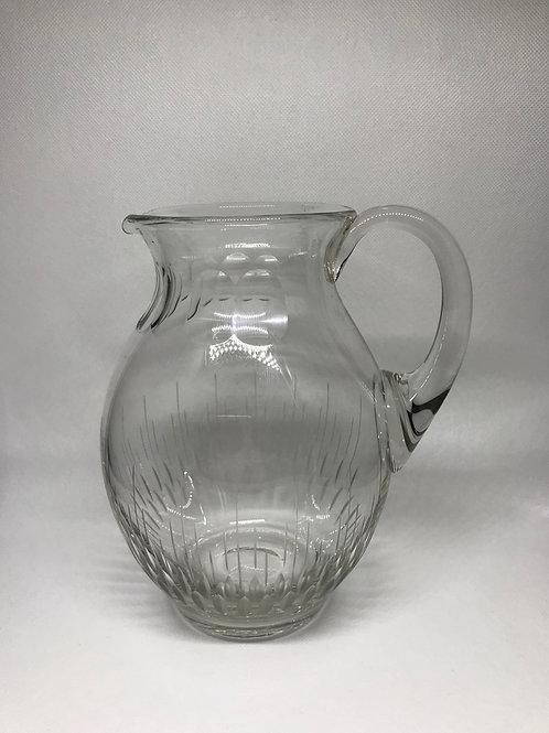 Pichet à eau vintage en cristal taillé