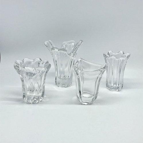 Petits vases Daum et Baccarat