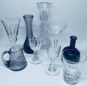 Vases et verres vintage