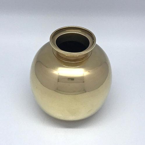 Vase boule art déco en bronze doré